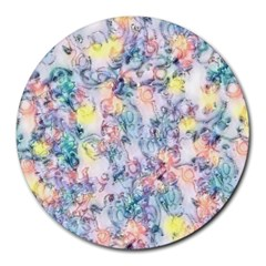 Softly Floral C Round Mousepads