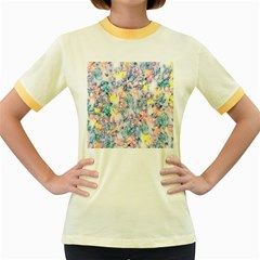 Softly Floral C Women s Fitted Ringer T-Shirts