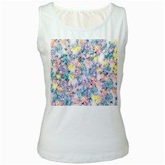Softly Floral C Women s White Tank Top