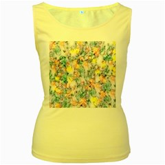 Softly Floral C Women s Yellow Tank Top
