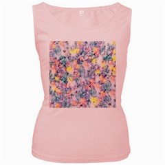 Softly Floral C Women s Pink Tank Top
