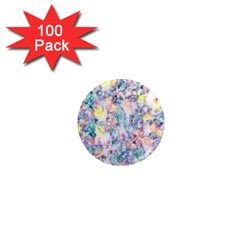 Softly Floral C 1  Mini Magnets (100 pack)