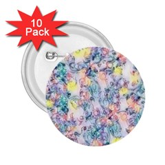 Softly Floral C 2.25  Buttons (10 pack)
