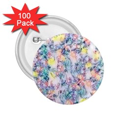 Softly Floral C 2.25  Buttons (100 pack)