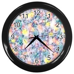 Softly Floral C Wall Clocks (Black)