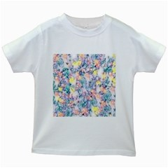 Softly Floral C Kids White T-Shirts