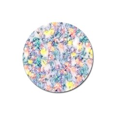 Softly Floral C Magnet 3  (Round)