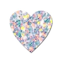 Softly Floral C Heart Magnet