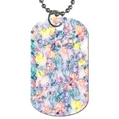 Softly Floral C Dog Tag (One Side)