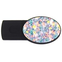 Softly Floral C USB Flash Drive Oval (1 GB)