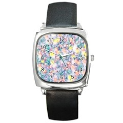 Softly Floral C Square Metal Watch
