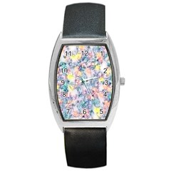 Softly Floral C Barrel Style Metal Watch