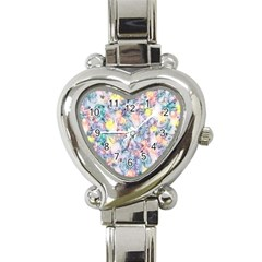 Softly Floral C Heart Italian Charm Watch