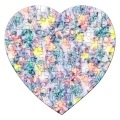 Softly Floral C Jigsaw Puzzle (Heart)