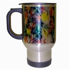 Softly Floral C Travel Mug (Silver Gray)