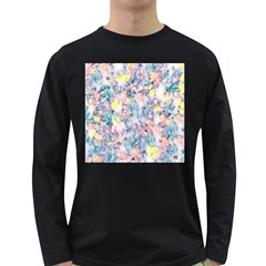 Softly Floral C Long Sleeve Dark T-Shirts