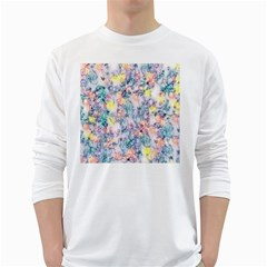 Softly Floral C White Long Sleeve T-Shirts