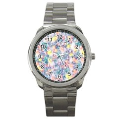 Softly Floral C Sport Metal Watch