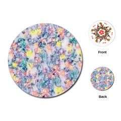 Softly Floral C Playing Cards (Round)