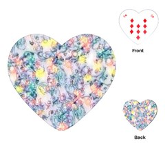 Softly Floral C Playing Cards (Heart)
