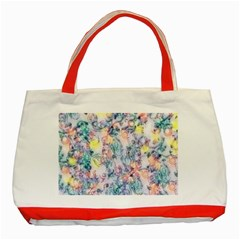 Softly Floral C Classic Tote Bag (Red)