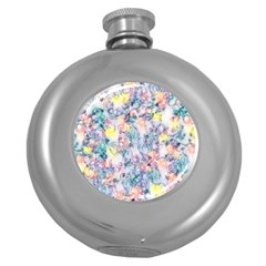 Softly Floral C Round Hip Flask (5 oz)