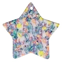 Softly Floral C Star Ornament (Two Sides)