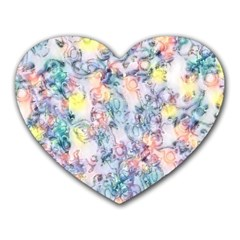 Softly Floral C Heart Mousepads