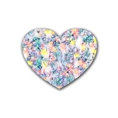 Softly Floral C Rubber Coaster (Heart)