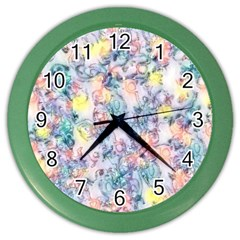 Softly Floral C Color Wall Clocks