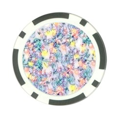 Softly Floral C Poker Chip Card Guard