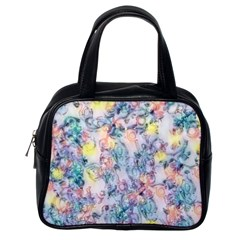 Softly Floral C Classic Handbags (One Side)