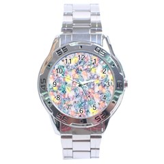 Softly Floral C Stainless Steel Analogue Watch