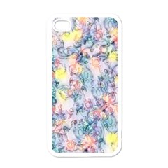 Softly Floral C Apple iPhone 4 Case (White)