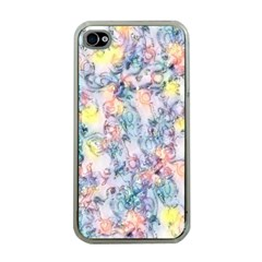 Softly Floral C Apple iPhone 4 Case (Clear)