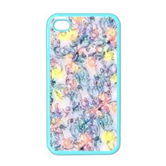 Softly Floral C Apple iPhone 4 Case (Color)