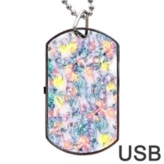 Softly Floral C Dog Tag USB Flash (One Side)