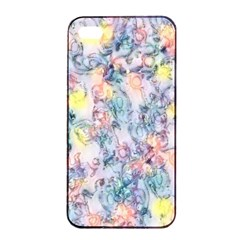 Softly Floral C Apple iPhone 4/4s Seamless Case (Black)