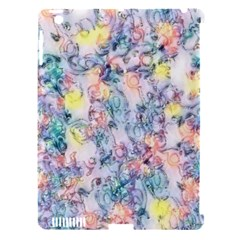 Softly Floral C Apple iPad 3/4 Hardshell Case (Compatible with Smart Cover)