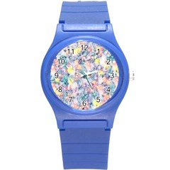 Softly Floral C Round Plastic Sport Watch (S)