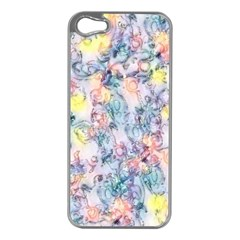 Softly Floral C Apple iPhone 5 Case (Silver)