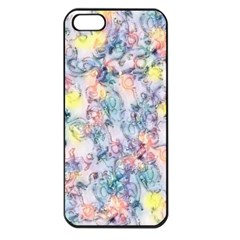 Softly Floral C Apple iPhone 5 Seamless Case (Black)
