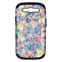 Softly Floral C Samsung Galaxy S III Hardshell Case (PC+Silicone)