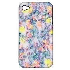 Softly Floral C Apple iPhone 4/4S Hardshell Case (PC+Silicone)