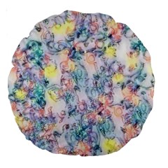 Softly Floral C Large 18  Premium Round Cushions