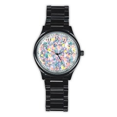 Softly Floral C Stainless Steel Round Watch