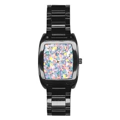 Softly Floral C Stainless Steel Barrel Watch