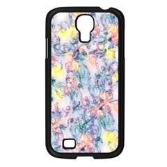 Softly Floral C Samsung Galaxy S4 I9500/ I9505 Case (Black)