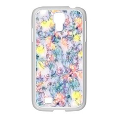 Softly Floral C Samsung GALAXY S4 I9500/ I9505 Case (White)