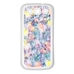 Softly Floral C Samsung Galaxy S3 Back Case (White)